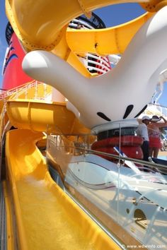 Disney's Mickey Slide.  A cruise ship with plenty to do for young and old no doubt.
