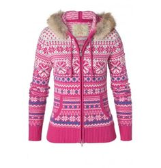 A hoody-style full-zip sweater with a hint of glamour. Intricate Fair Isle jacquard complements a luxurious fur trim which can be removed for individual styling. The cosy kangaroo pocket und the two-way zip makes this a flexible style that you can wear on both sporty and stylish occasions. You're free to choose.Bogner Fire & Ice is the home of functional, innovative sportswear with a touch of class: a youthful and exciting crossover between functional active wear and classic sophisticated… Ski Fashion, Fashion Women, Sporty Outfits, Zip Sweater, Sophisticated Style, Cardigans For Women, Sports Women, Active Wear, Athletic Outfits