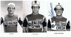 De brillen van Raleigh. Met Jan Raas (1979), Bert Pronk (1981) en Gerrie Knetemann (1982).
