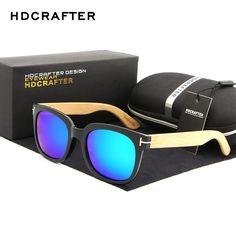 HDCRAFTER Polarized Sunglasses Men/Women Bamboo Leg Sunglass Brand Designer Original Wood Sun Glasses Oculos De Sol Masculino #Affiliate