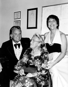 Billy Graham, Corrie ten Boom, and Jeannette Clift George (actress who portrays Corrie ten Boom in the film The Hiding Place) ... Circa 1970s.     https://www.facebook.com/pages/Pam-Rosewell-Moore-Ministries/125247457541152?fref=ts