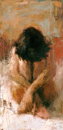 """Sanctuary"" - Henry Asencio (b. oil on board {figurative art seated woman smudged painting} Figure Painting, Painting & Drawing, Painting Abstract, Diy Painting, Acrylic Paintings, Woman Painting, Art Amour, Figurative Kunst, Art Graphique"