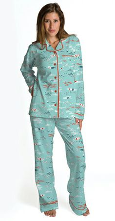 """Munki Munki Women's Poplin """"Calypso"""" Pajamas - The Pajama Company"""