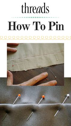 Susan Khalje shares several methods for pinning. How best to pin is partially determined by the task at hand. #howtosew #howtopin #sewing #pinsseam