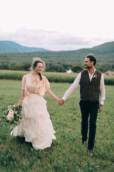 History Inspired Outdoor Wedding Inspiration via Magnolia Rouge