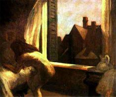 Moonlight Interior - Edward Hopper - Oil Painting Reproductions and Prints from Canvas Replicas American Realism, American Artists, David Hockney, Rembrandt, Edouard Hopper, Edward Hopper Paintings, Ashcan School, Social Realism, Monet