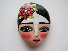 Hand Painted Stone Rock Rocks for the Cure NEW by Maria Mercedes for AStoneinHand, $25.00