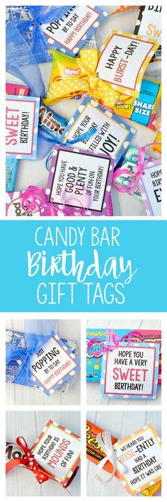 Candy Bar Birthday Tags
