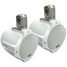 "Pyle Hydra Series 2-way Wakeboard Speakers (6.5"" 200 Watts White)"