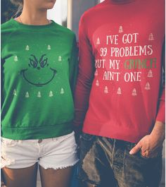 fasıon Christmas Sweaters for {Couples} Abstract: A shocking styled p Couples Christmas Sweaters, Couple Christmas, Christmas Style, Cute Christmas Outfits, Diy Ugly Christmas Sweater, Funny Christmas Shirts, Ugly Sweater Party, Matching Christmas Pajamas Couples, Grinch Shirts