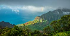Our view from Kalalau lookout last week in Kauai! [OC] [5000 x 2588] #reddit