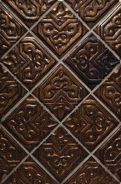 "Granada, Color: Hammered Bronze, 4X4"" Decorative Tiles"