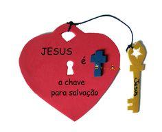 Jesus the Key to Salvation Heart Craft Sunday School Classroom, Sunday School Activities, Sunday School Crafts, Bible Story Crafts, Bible Crafts For Kids, Kids Church Lessons, Verses For Kids, Faith Crafts, Christian Crafts
