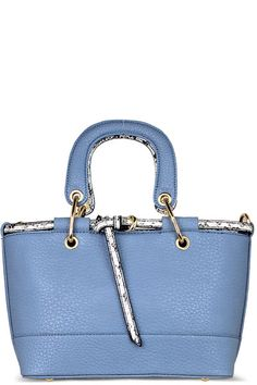 755a582e8111 Snake Skin Trim Satchel Blue Selling On Pinterest