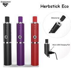2015 New Arrival Herbstick Eco dry herb Vaporizer 2200mah Temperature Control Airflow Hole Mini Vape Pen Herbal e cigarette Kit