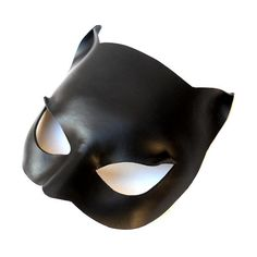 Black Catwoman Leather Mask Super Hero Sexy Halloween Masquerade Cat... ($39) ❤ liked on Polyvore