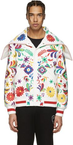 OPENING CEREMONY White Mexico Global Varsity Jacket. #openingceremony #cloth #jacket