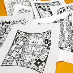 Zentangles~if u like to doodle:)