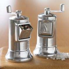 Williams Sonoma offers a wide selection of salt and pepper mills. Styles range from modern electric salt and pepper mills to classic wood salt and pepper grinders. Salt And Pepper Mills, Salt And Pepper Grinders, Salt And Pepper Set, Salt Pepper Shakers, Green Label, Essential Kitchen Tools, Cooking Utensils, Kitchen Utensils, Kitchen Dining