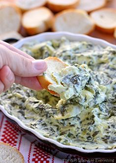 Creamy Spinach and Artichoke Dip | The Girl Who Ate Everything