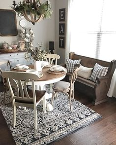 Pretty Farmhouse Dining.