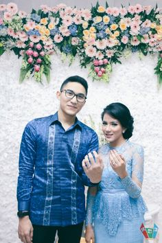DIY Paper Blue Engagement - Nissya