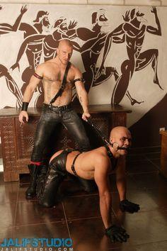 "tubefist: "" http://www.gaysexleather.com/2014/03/22/leather-guys-aitor-crash-and-nicos-casanova/ """