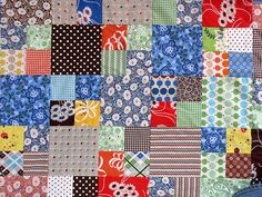 Mixer Doll...........Quilt detail by IamSusie, via Flickr 4 Patch Quilt, Quilt Patterns, Quilting Ideas, Quilt Top, Schmidt, Baby Quilts, Digital Scrapbooking, Projects To Try, Patches