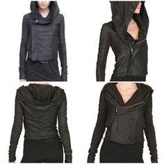 Rick Owens Jackets & Blazers - HP Rick Owens asymmetrical lambskin leather jacket