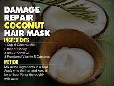 Coconut can work wonders for any kind of hair problems. The natural oil in it can help condition the hair and scalp allowing the hair to grow healthier. Coconut milk contains fatty acids that help to immerse each hair follicle with beneficial vitamins and minerals. Unknown to many, Vitamin E