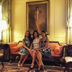 Hamilton is at the White House today and the Schuyler Sisters are taking over the First Lady's Instagram. Follow along for a look inside our visit! #Bam4Ham