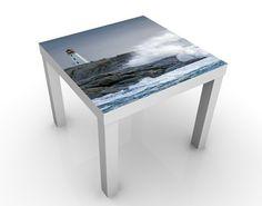 Design #Tisch Sturmwellen am Leuchtturm 55x55x45cm #Flur #Gestaltung #Diele #Ideen #Dekoration #Schöner #Wohnen