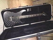 NICHOLAS TRON GRID CUSTOM GRAPHIC Electric Guitar w/ EMG's & Floyd Rose