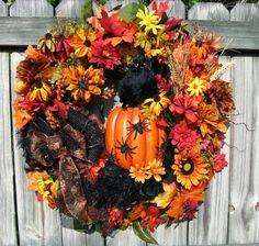 IGW Gallery: Halloween Spooky Owl Fall Wreath