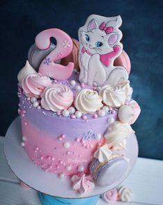 pin De Liiza Chiiquii Santiiagoh Pretty Cakes, Cute Cakes, Beautiful Cakes, Toddler Birthday Cakes, Birthday Cake Girls, Kitten Cake, Bithday Cake, Disney Cakes, Novelty Cakes