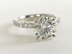 """in my dreams """"swoon"""" 3 Carat Diamond Scalloped Pavé Diamond Engagement Ring Platinum Engagement Rings, Engagement Ring Styles, Blue Nile Jewelry, Fashion Rings, Wedding Accessories, Wedding Rings, Wedding Ideas, Rustic Wedding, Wedding Inspiration"""