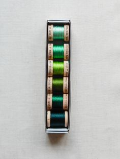 Soie Perlée set (Greens) Creative Embroidery, Hand Embroidery, Crazy Quilt Stitches, Yarn Thread, Shades Of Gold, Quilt Stitching, Metallic Thread, Colour Schemes, Soft Colors