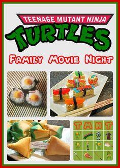 Family Movie Night with Printable Bingo Game & Recipes Movie Night For Kids, Movie Night Snacks, Dinner And A Movie, Night Food, Family Movie Night, Family Movies, Movie Nights, Family Family, Tmnt