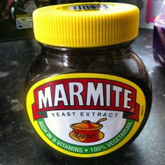 Marmite, I grew up with this delis savory spread, I even wanted to eat it when I had my tonsils out!