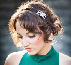 Swarovski Crystal Holiday Headband - LILA. $48.00, via Etsy.