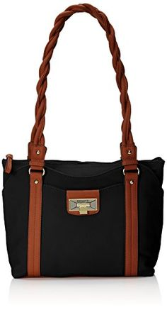 0a3f3f7510 Rosetti Haven Satchel Two Tone Top Handle Bag Black One Size -- You can get  additional details at the image link.Note It is affiliate link to Amazon.