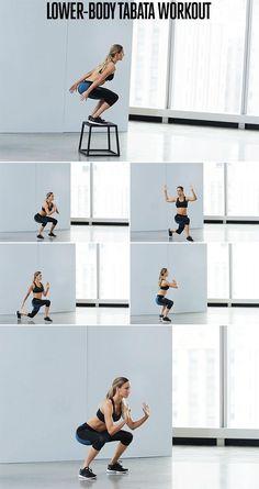 Lower body cardio tabata workout
