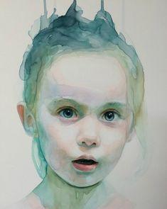 Watercolor Portrait By Ali Cavanaugh - Art Collection Watercolor Portrait Painting, Watercolor Face, Painting & Drawing, Watercolor Portrait Tutorial, L'art Du Portrait, Art Visage, Art Du Monde, Kunst Online, Art Et Illustration