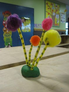 These are so cute!  Truffala trees from Dr. Seuss.