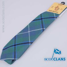 Pure wool tie in Douglas Ancient tartan - from ScotClans