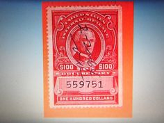 GREAT BOB-#R727 $100 DOCUMENTARY, USED , FINE/VF- CUT CANCEL-