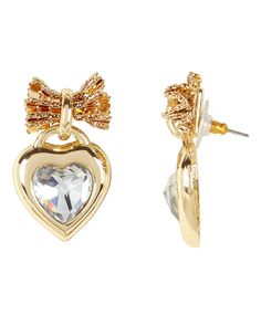Elora Crystal Heart Earrings 90s Jewelry, Hanging Hearts, Heart Earrings, Heart Charm, Ear Piercings, 18k Gold, Swarovski Crystals, Heart Ring, Brooch