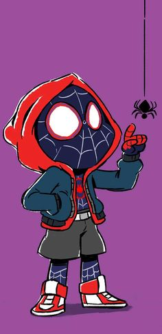Mini Miles Morales by nicparris.deviant… on Mini Miles Morales by nicparris. Black Spiderman, Amazing Spiderman, Chibi Spiderman, Spiderman Sketches, Spiderman Kunst, Spiderman Drawing, Chibi Marvel, Spiderman Spider, Marvel Drawings