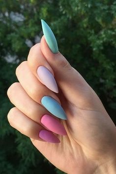 35 summer can also be recommended with Frosted nail style - JimIamy : 35 summer can also be recommended with Frosted nail style nails; Summer Acrylic Nails, Best Acrylic Nails, Summer Nails, Stylish Nails, Trendy Nails, Swag Nails, My Nails, Nail Design Spring, Bright Nails