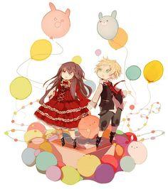 Tags: Balloon, Pandora Hearts, Adorably Cute, Oz Vessalius, Alice Baskerville, Niaems